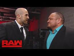 Image result for Samoa Joe confronts Cesaro and Sheamus