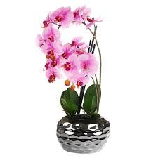 <b>Цветок искусственный Dpi Фаленопсис</b> в горшке 50cm розовый ...