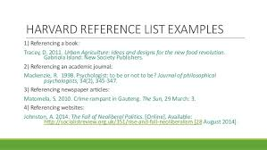 research assignment writing referencing workshop alw nmmu  47 harvard reference list