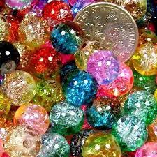 Women <b>50 pcs</b> Mix 2-tone <b>Crackle</b> Round Beads Fit Bracelet ...
