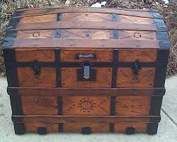 <b>356</b> Restored Antique engraved carvings Trunks For Sale - Wood ...