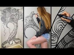 tree wall decor art youtube: henna tree wall art mehndi design youtube