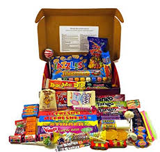 Bumper <b>Retro</b> Sweets Selection <b>Luxury</b> Red Gift Box With A Gold ...