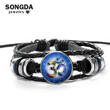 SONGDA Fashion Multilayer Bracelet <b>OHM OM</b> AUM <b>Buddha</b> ...