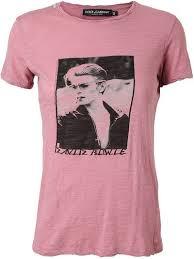Dolce and Gabbana David Bowie Motif T-Shirt | Ladyystuffz | Tops, T ...