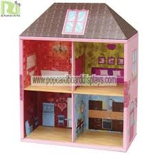cartoon corrugated cardboard furniture doll house for children cardboard furniture for sale