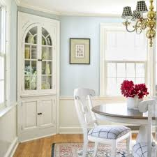 corner cabinets dining room: for dining room talk about a space smart upgrade way to put a corner to work quotthe original three corner cupboard was revived with semigloss paint