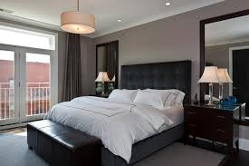bedroom black bed masculine modern master bedroom ideas with black bed furniture and lea