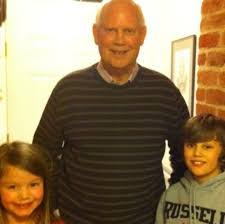 James Noble with his grandchildren Luke & Emily Pell: Family picture - 2022846439