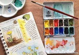 <b>12</b>-<b>Color</b> Watercolor <b>Palette</b> — Scratchmade Journal