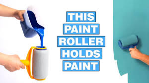 Paint Runner: A Non-Drip <b>Paint Roller</b> That Stores Paint - YouTube