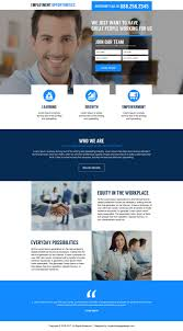 employment opportunity lead gen landing page designs for international job opportunities lead capture landing page design