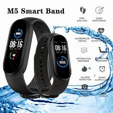 <b>M5 Smart Watch Heart</b> Rate Monitor Blood Pressure Fitness Tracker ...