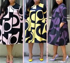 2019 Stiway <b>digital printing round</b> neck basic A-line sleeve dress JN06
