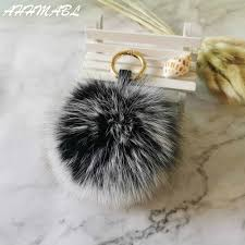 Special Offers real fur key ring pompoms <b>cute fox</b> near me and get ...