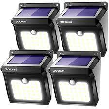 ZOOKKI Solar <b>Lights Outdoor</b>, 28 <b>LED</b> Wireless Motion Sensor ...