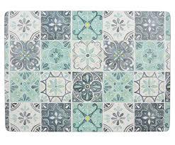 Набор из 4 подставок Green Tile от <b>Creative Tops</b> синий ...