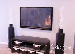 Hide Tv In Wall How To Mount A Flat Screen Tv And Hide Cords Inside The Wall