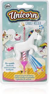 NPW-USA Novelty Unicorn Birthday Candle Holder ... - Amazon.com