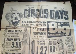 newspaper ad for mr bigs department store norwich ct i was just talking awesome db mrbig glass top