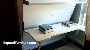 wall bed desk from expand furniture youtube discount home decor affordable home decor alluring murphy bed desk