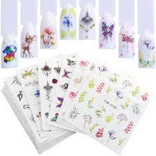YZWLE <b>12PCS Nail Sticker</b> Summer Colorful Designs <b>Water</b> ...