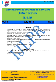 front cover page international journal of law and policy review front cover page