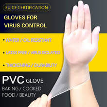 HOTSALE <b>100 Pcs</b> Food Grade <b>Disposable PVC</b> Gloves Anti-static ...