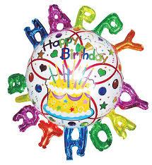 <b>Action</b>! <b>Шар фольгированный</b> с объемной надписью <b>Happy</b> Birthday
