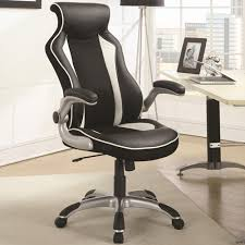 with a stylish race car seat design this black and white office chair offers great lumbar support and a curved back for lasting comfort all throug car seat office chairs