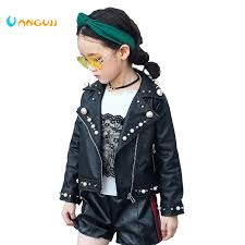 <b>2017 autumn winter</b> hot <b>children</b> PU jacket, 2 7 year old girl fashion ...