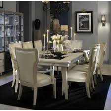 michael amini dining room sets beverly blvd pearl caviar  pc leg dining set by michael amini table