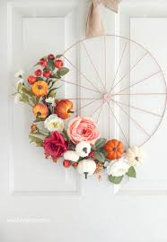 fall wheel wreath tutorial - Lolly Jane