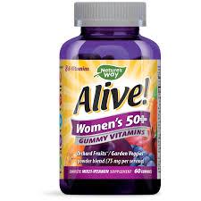 <b>Alive</b>! Women's 50+ Complete <b>Multivitamin Gummy</b>, Berry, 60 ct ...