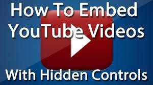 Hidden Embedded YouTube Controls