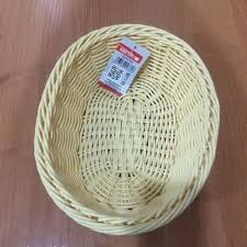 <b>Корзинка</b> бежевая, плетеная, пластиковая для <b>хлеба 25х20см</b> ...