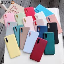 <b>candy color silicone</b> phone case for samsung galaxy a50 a70 a30 ...