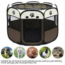 <b>Portable Folding Pet</b> Tent Playpen Dog House Fence Kennel Cat ...