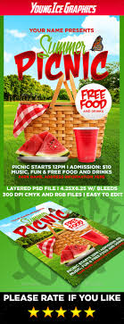 picnic flyer templates laveyla com summer picnic flyer template by youngicegfx graphicriver