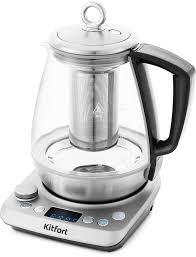 Купить <b>Чайник электрический KITFORT</b> КТ-669, прозрачный в ...