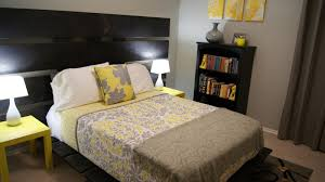 Small Grey Bedroom Gray And Yellow Bedroom Home Design Ideas And Architecture With