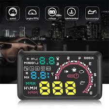 <b>5.5 inch W02 LED</b> Car Head Up Projector Speed Warn System ...