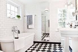 bathroom white tiles:  black and white tile bathroom ideas