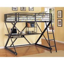 bunk beds loft with desk wayfair z bedroom full over bed teen girl bedroom ideas black metal computer desk