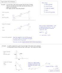 math plane trigonometry word problems trigonometry word problems notes and examples