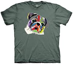 The Mountain Pet Pug 100% Cotton Unisex T-Shirt ... - Amazon.com