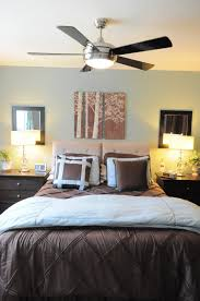 cute bedroom interior design ideas with modern ceiling fan style above comfortable bed bedroom decor ceiling fan