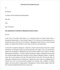 Personal Statement Letter Format Example   example of college