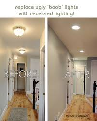 recessed lighting totally want to do this to get rid of the ugly dome lights best lighting for hallways