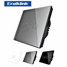 <b>EU Standard</b> 1/2/3 Gang RF433 Control <b>Wall Switch</b>, Wireless ...